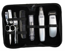 Wahl Grooming Gear Battery-Operated Men s Trimmer Travel Set In Pouch GIFT NEW