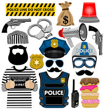 Police inspired DIGITAL photo booth props NO PHYSICAL ITEM