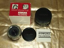 NEW GENUINE ORIGINAL KOMURA 2X  AUTO TELECONVERTER LENS for NIKON SLR CAMERAS