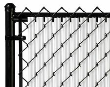 Chain Link White Single Wall Ridged Privacy Slat For 5ft High Fence Bottom Lock