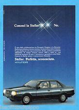 QUATTROR984-PUBBLICITA'/ADVERTISING-1984- HYUNDAI  STELLAR