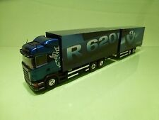 TEKNO HOLLAND SCANIA R620 V8  HIGHLINE TRUCK + TRAILER - BLUE 1:50 - GOOD