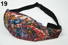 Mens Womens waist bag waterproof fanny pack holiday bum bag captain america