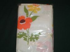 2 Vtg 60s Retro Sears Perma Prest Percal Daisy Flowers Pillowcases 20x31 NIP#mfb