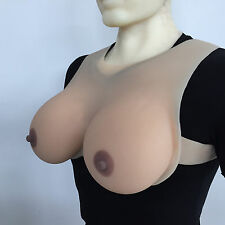 1800g Artificial Breasts Soft Silicone Fake Boobs Crossdress Bust 42DD/44D/46C