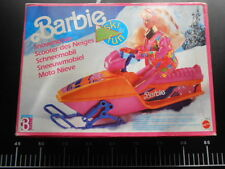 VINTAGE Snowmobile Ski-Doo Sled Moto Snow Barbie Doll Winter 8515 Mattel