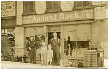 RPPC NY Syracuse August Bock Store Front Butternut St Victor RCA Dog Sign & More