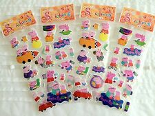 NEW: PEPPA PIG & GEORGE STICKERS SHEET BIRTHDAY PARTY LOLLY BAG TREAT BOX FILLER