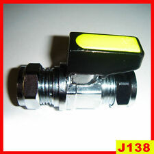 Aislamiento de Cromo CP 12MM válvula de gas Parada Grifo Mini ballvalve Amarillo Palanca Grifo Nuevo