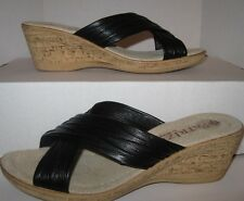 Patrizia  Made In Italy Wedge Heels Women's Shoes Size 8 (38)  Black REDUCED!