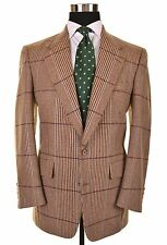 BESPOKE The Andover Shop ILLUSIVE RUSSELL PLAID TWEED Wool Sport Coat Jacket 40R