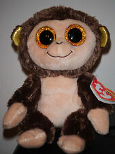 """Ty Beanie Boos ~ AUDREY the 6"""" Monkey ~ 2015 European Exclusive NEW ~ IN HAND"""