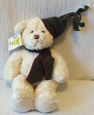 "12"" Mary Meyer Plush White Teddy Bear Wool Sley Item 41011 Scarf Hat With Tag"