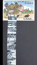 LA ROCHELLE (17) CARTE SYSTEME à 10 VUES :RANDONNEUR avec TORTUE en 1952