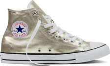 Converse CT Unisex All Star Seasonal Metallics - Gold- Size Mens UK 8 - RRP £75