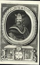 King Henry II of England Lord of Ireland 1732 antique engraved portrait print