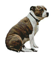 "Staffordshire Terrier Dog Counted Cross Stitch Kit 13.25"" x 14.25"" D2315"