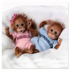 Ashton Drake - DOUBLE TROUBLE monkey doll twins by Cindy Sales
