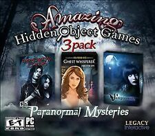 Amazing Hidden Object Games 3 Pack: Paranormal Mysteries (PC, 2011)