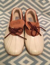 SPERRY TOP-SIDER White Water Proof Duck Rainboots Low J Crew Ankle Size 7