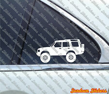 2X Lifted offroad truck stickers - for Land Rover Discovery series 2