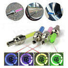 2x / 4x LED NEON VALVE DUST CAP LIGHT CAR BIKE BMX WHEEL TYRE SPOKE SAFETY LAMP