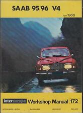 SAAB 95 96 & MONTE CARLO V4 SALOON / ESTATE 1966 - 1976 WORKSHOP MANUAL * VGC *