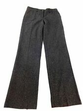 UNITED COLORS OF BENETTON WOMENS BLACK WOOL SILK TWEED DRESS PANTS SIZE 42