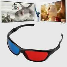 Black Frame Red Blue 3D Glasses For Dimensional Anaglyph Movie Game DVD GA