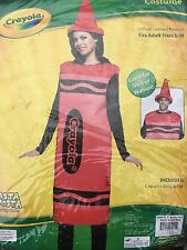 Rasta Imposta Adult Costume Crayola Crayon Red Men Women Unisex Small Medium