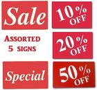 """SALE Message Sign 50% OFF Store signs 20% OFF Plastic Message Sign 11""""t DEAL"""