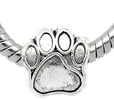 100 Antik Silber European Hundpfote Perlen Beads 11x11mm