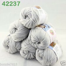 Sale New 6ballsx50g Soft Worsted Cotton Chunky Bulky Hand Knitting Quick Yarn 37