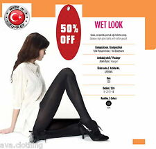 """Penti"" Turkish/ Women Opaque Pantyhose Tights Stockings Shiny (Wet Look)  S"