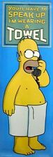 THE SIMPSONS ~ HOMER TOWEL DOOR 21x62 CARTOON POSTER Matt Groenig TV NEW/ROLLED!