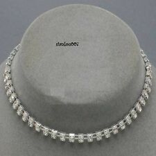 Elegant 2 Row Clear Diamonte Diamante Necklace/Choker - NEW & SEALED
