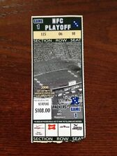 NFC Playoff Ticket Stub Green Bay Packers vs. Seattle Seahawks 2007 2008 Favre