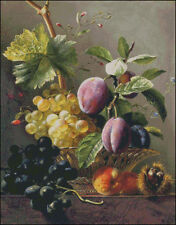 Needlework Crafts Full Embroidery Counted Cross Stitch Kits Fruit and Chestnut