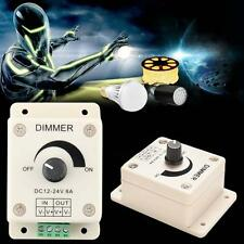 LED Light Protect Lamps Strip Dimmer Adjustable Bright Controller 12V-24V 8A  LN