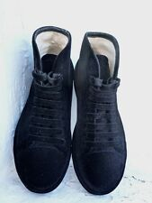 MAISON MARTIN MARGIELA all over black velvet high sneakers Size EU 37