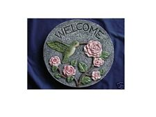 HUMMINGBIRD WELCOME CONCRETE  STEPPING STONE MOLD 1088