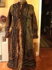 Yak Fur Coat Ladies Bison Buffalo Med Excellent Early RARE Hippie Folk Art