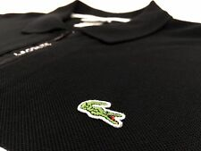 VTG Lacoste Sport 1/4 Zip Striped Long Sleeve Alligator Polo Golf Shirt Sz. 7