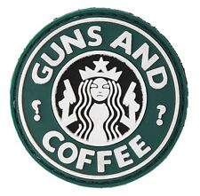 AC-110J: Tactical ARMY Morale GUNS AND COFFEE PVC PATCH, No tracking Number