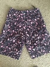 Iron Fist SKULLS Board Shorts Trunks Made In Hell Size Sz 28 - Black Pink