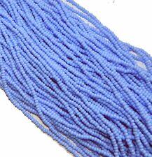 Light Blue Opaque Czech 8/0 Glass Seed Beads 12 Strand Hank Preciosa