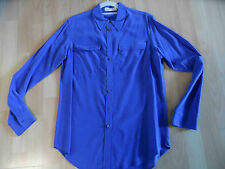 TURA by VINCE CAMUTO tolle Seidenbluse mittelblau Gr. XS o. S TOP BSU1215