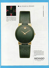 BELLEU997-PUBBLICITA'/ADVERTISING-1997- MOVADO THE MUSEUM WATCH