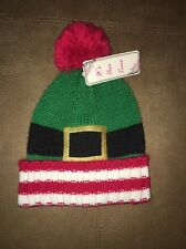 It's Our Time Christmas Hat Winter Unisex Green Red White NWT
