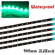 "90CM/35"" Flexible LED Strip Light Bar Car Motorcycle Truck Boat Waterproof 12V"